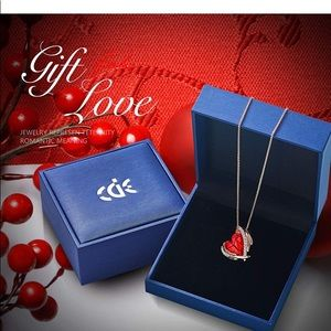 Jewelry - Rose Gold Necklaces for Women Heart Pendants